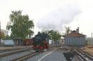 99 1761-8 Lößnitzgrundbahn wird in Radebeul-Ost für den Zug nach Radeburg bereit gestellt (12.10.2020)