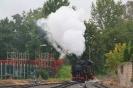 99 1761-8 setzt sich vor den Zug für die Rückfahrt nach Radebeul-Ost(12.10.2020)