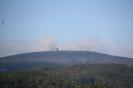 Der Brocken am Morgen des 13.8.2013 von Wernigerode aus gesehen.